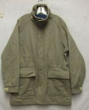 S3824 Woolrich Large Grey Wool Full Zip Lined Jacket Made in USA 2 Pockets