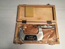 """PHASE II, #100-003, 2-3"""" .0001"""" OUTSIDE MICROMETER, WITH WOODEN CASE"""