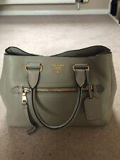 Prada Grey Pomice Genuine Handbag