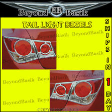 2011-2015 CHEVY CRUZE Chrome Tail Light Taillight Covers Trim Bezel Lamp 4pieces