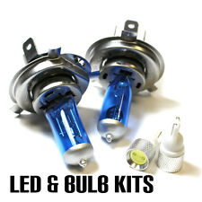 Mazda MX-5 MK1 1.6 55w Super White HID Xenon Main/Dip/Slux LED Side Light Bulbs