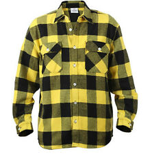 Buffalo Plaid EXTRA HEAVYWEIGHT FLANNEL Shirt Military Army USMC Hunting Camping