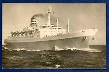 SS STATENDAM Holland-America Line BW RPPC