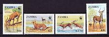 ZAMBIA  1987  W.W.F.  SET 4   MNH