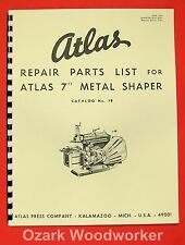 "Atlas 7"" Metal Shaper Instructions and Parts Manual 0026"