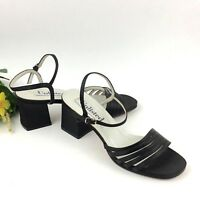 Unlisted Heels Size 7 Black Fabric Leather Slingback Shoes Kenneth Cole Womens