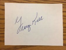 George Kell Hand Signed Autographed Stationery Baseball Card Sized Tigers HOF