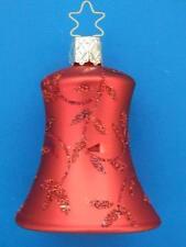 INGE GLAS CRIMSON RED BELL GLOCKE GERMAN BLOWN GLASS CHRISTMAS ORNAMENT DELIGHTS
