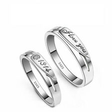 Love Rings Gold Plated Rings Charming Men Women Wedding Bands Lovers ON