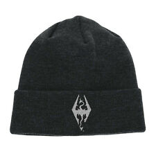 OFFICIAL SKYRIM - DRAGON SYMBOL EMBODERED BEANIE HAT (BRAND NEW)