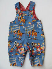 Baby Boys, Girls Jumper Overalls, Michael Miller Western Cowboy Fabric 3-9 Month
