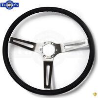 69-72 Chevelle Nova Camaro Impala Steering Wheel 3 Spoke Comfort Grip - Black
