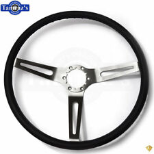 69-72 Chevelle Nova Camaro Impala Steering Wheel 3 Spoke Comfort Grip - Black