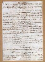 Antico documento manoscritto XIX secolo Bibliografia