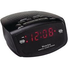 Westclox 80209 AM/FM Radio Dual Alarm with Red LED Display Alarm Clock