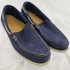 Bass Men's Deck Shoes Loafers Driving Moccassins Size 12M Blue Suede Mineola  S8