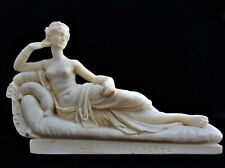 Alabster Sculpture Of Paolina Bonaparte Engraved A. Santini Made In Italy