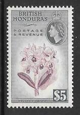BRITISH HONDURAS SG190 1953 $5 PURPLE & SLATE  MNH