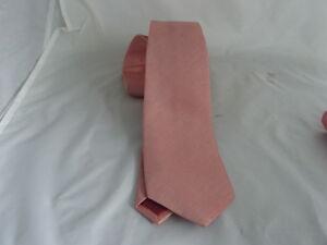 "Dusky Pink Polyester Mens Classic TIe-3.3""= 8cm Width > P&P 2 the UK > 1st Class"