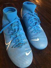 New listing NIKE Boys Soccer Cleats 9 Mercurial Blue White Men's Sports