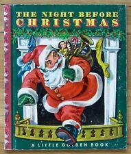 THE NIGHT BEFORE CHRISTMAS Corinne Malvern Little Golden Book LGB 1949 O L1