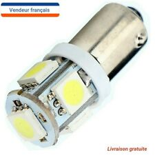2X Ampoule T11 BA9S T4W 5 LED 12V 6000K Blanc Pure Xenon