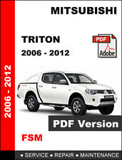 MITSUBISHI TRITON 2006 - 2012 FACTORY OEM SERVICE REPAIR WORKSHOP FSM MANUAL