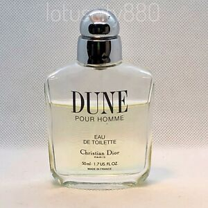 DIOR DUNE POUR HOMME 50ml EDT SPRAY by Christian Dior Men's Perfume ( USED )