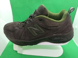 MEN'S NEW BALANCE 608v3 CROSS-TRAINING WALKING SHOES BROWN GREEN SUEDE SIZE 10