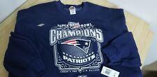 Reebok 2002 Superbowl XXXVI Champions  New England Patriots Sweatshirt NWT