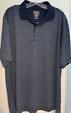 Greg Norman For Tasso Elba golf shirt L Large Play Dry Striped PGA