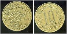 AFRIQUE EQUATORIALE  10  francs 1972  ( bis )