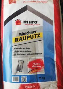 (GP.1,04€/Kg) 25 Kg Münchner Rauhputz 2mm Rillenputz Reibeputz Rauputz Edelputz