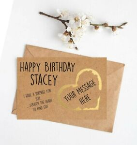 *PERSONALISED* SURPRISE gig CONCERT theatre TICKET SCRATCH CARD show BIRTHDAY
