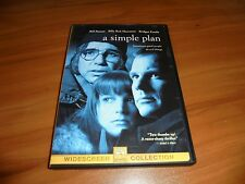 A Simple Plan (DVD, 1999, Widescreen) Billy Bob Thornton Bill Paxton Used OOP