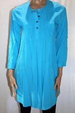 FIRST LADY Brand Blue Pin Tuck Long Sleeve Dress Size XXS BNWT #TL56