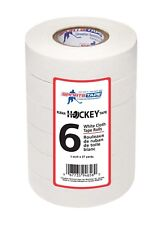Sports Tape White Cloth Hockey Tape, 6 Rolls, 1 Inch Wide, 27 Yards!