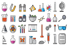 Science Chemistry Set x 30 Cupcake Toppers Edible Wafer Paper Fairy Cake