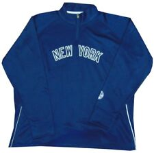 New York Yankees MLB Majestic Womens 1/4 Zip Pullover Poly Fleece Plus Size 2X