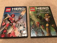 2 LEGO HERO FACTORY Ride Of The Rookies & Savage Planet Dvd Movies GUC