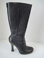 Steven By Steve Madden  Womens Black Leather Boots Back Zip Size 8M