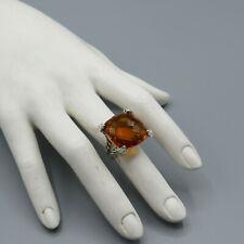 David Yurman Ring Cushion 20mm Citrine With Diamond Size 6.5