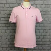EMPORIO ARMANI MENS UK M PINK SHORT SLEEVE POLO SHIRT SMART DESIGNER CASUAL