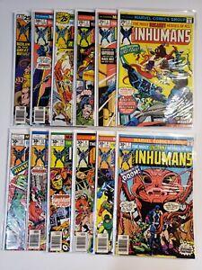 THE INHUMANS ISSUES 1-12 FULL HIGH GRADE RUN MARVEL BRONZE AGE 1975 SERIES