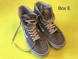 Vans Unisex SK8-Hi Top Canvas Skate Sneaker Shoes Frost Gray Mens 7 Womens 8.5