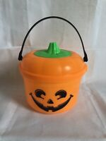 Vintage BRAND NEW 1986 McDonald's Orange Halloween Pumpkin Happy Meal Bucket