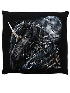 Spiral Cushion Dark Unicorn Black 40x40cm