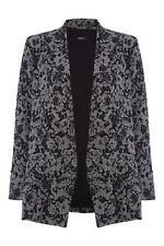 Hip Length Viscose None Floral Coats & Jackets for Women
