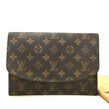 Vintage Authentic Louis Vuitton Monogram Clutch Hand Bag /ee685