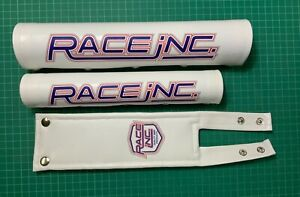 Race inc repop Bmx padset with white PU leather